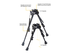 Pic Rail XLA Bipod 6-9 Fixed Bipod